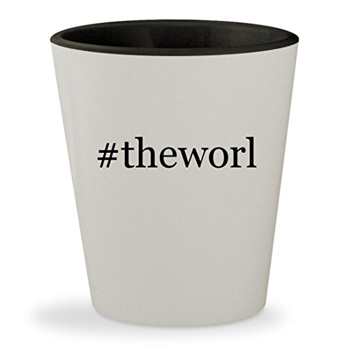 #theworl - Hashtag White Outer & Black Inner Ceramic 1.5oz Shot Glass