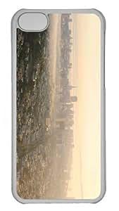 cases design san francisco morning sun PC Transparent case for iphone 5C