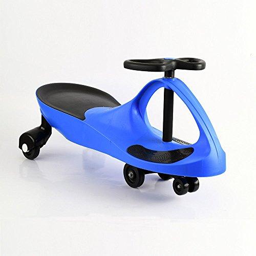 Gyro Swing - scooter Kid Toy Ride On Wiggle Car Twist Child Toddler Fun Swing Gyro Blue