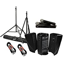 Fender Passport Event Portable PA System Bundle with Shure BLX288/PG58 Dual Wireless Handheld Microphone System and Accessories - Portable PA System