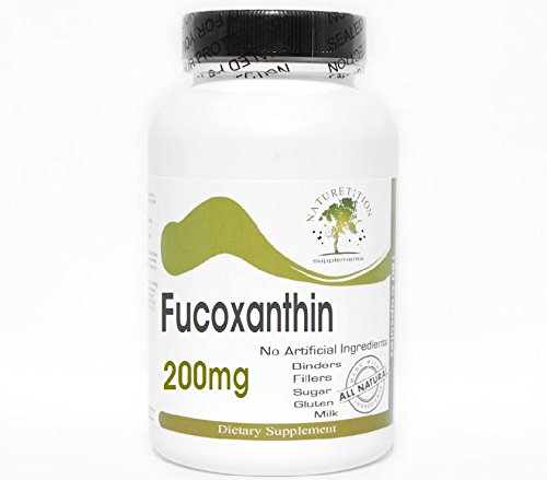 Fucoxanthin 200mg ~ 100 Capsules – No Additives ~ Naturetition Supplements Review