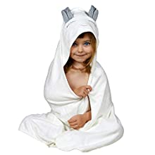 MinniMa Baby Bunny Hooded Towel,Organic Bamboo Hooded Bath Towel with Ears for Babies-Toddlers, Extra Large Baby Bath Towel-Perfect