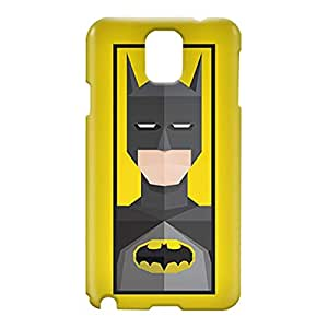 Loud Universe Samsung Galaxy Note 3 3D Wrap Around Batman Triangular Print Cover - Yellow