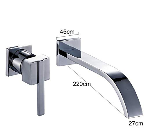 Decorry Wall Faucet Mixer Crane Hot and Cold Water Sink Faucet Chrome
