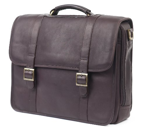 (Claire Chase Porthole Computer Briefcase, Cafe, One Size)