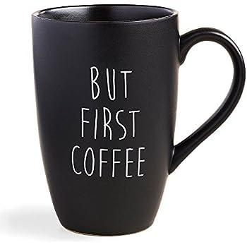 Amazon Com Funny Guy Mugs Plain Black Ceramic Coffee Mug