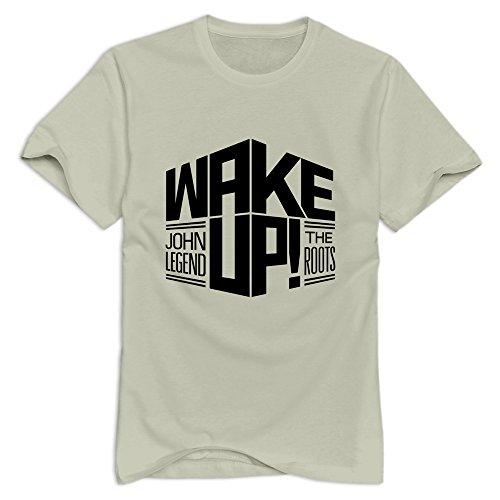 Vansty John Legend Short Sleeves T Shirt For Man Natural Size -