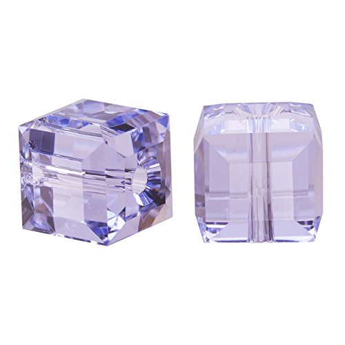 SWAROVSKI ELEMENTS Crystal #5601 6mm Cubes Provence Lavender (4 ()