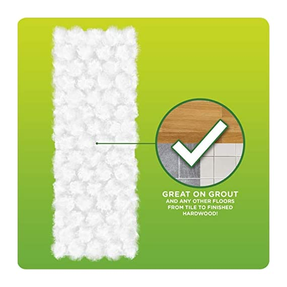 Swiffer Sweeper Heavy Duty Mop Pad Refills for Floor Mopping and Cleaning, All Purpose Multi Surface Floor Cleaning Product, 20 Count, 2 Pack 6 2x More Trap + Lock of dirt, dust, and hair vs. multi-surface Sweeper dry cloth Over 30,000 3D fibers brush into tight spaces gathering dust, dirt, and pet hair Great on Grout and any other floors from tile to finished hardwood
