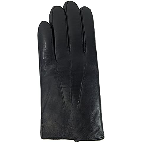 DEBRA WEITZNER Mens Winter Gloves -Genuine Leather-Touchscreen-Rabbit Fur Lined Gloves Large - Fur Leather Gloves