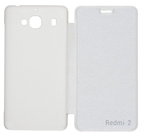 VRV Flip Cover For Xiaomi Redmi 2   White