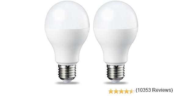 AmazonBasics Bombilla LED Esférica E27, 14W (equivalente a 100W), Blanco Cálido - 2 unidades