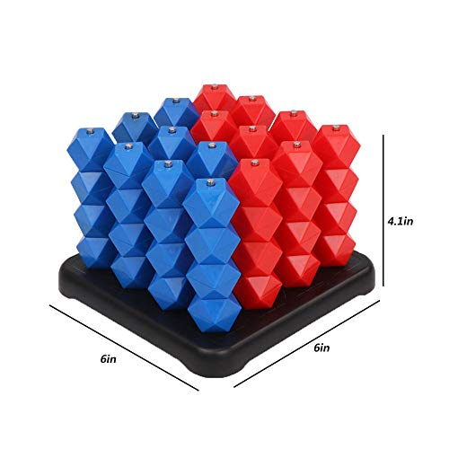 YEIBOBO ! 3D Chess for Connect Four Spatial Thinking Games (Rhombus Beads)