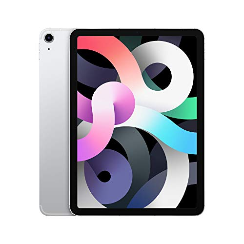 2020 Apple iPadAir (10.9-inch, Wi-Fi + Cellular, 64GB) – Silver (4th Generation)