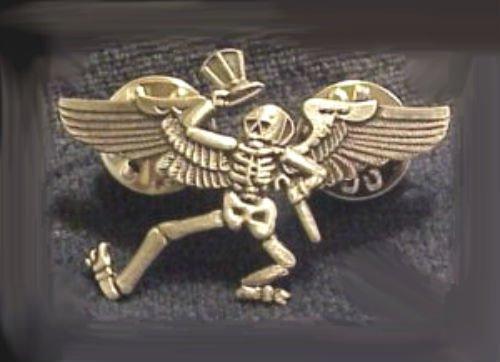 (GRATEFUL DEAD Head Skull Skeleton Pilot Wings High Acid Trip Hat Jacket Pin Hip)