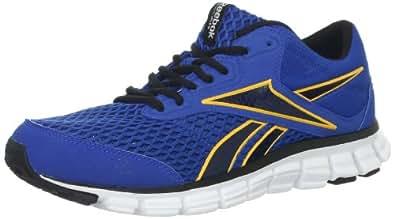 Reebok Men's Smooth Flex Ride 3.0 Running Shoe,Trust Blue/Neon Orange/Black/White,8 M US