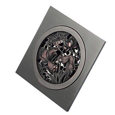 Drain Antique Brass 10cm(3.9'') 10cm(3.9'') Drain -Contemporary Brass Floor Drain-Finish - Antique Bronze.