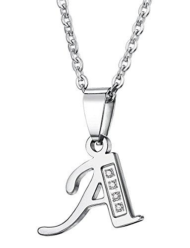 FIBO STEEL Stainless Alphabet Necklace