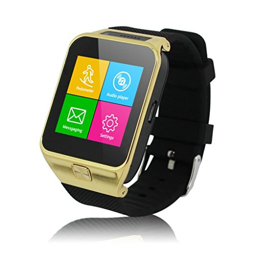 Oneisall(TM) S29 Bluetooth Smart Watch Phone Wristwatch 2.0M Camera Touch Screen for Android,Gold