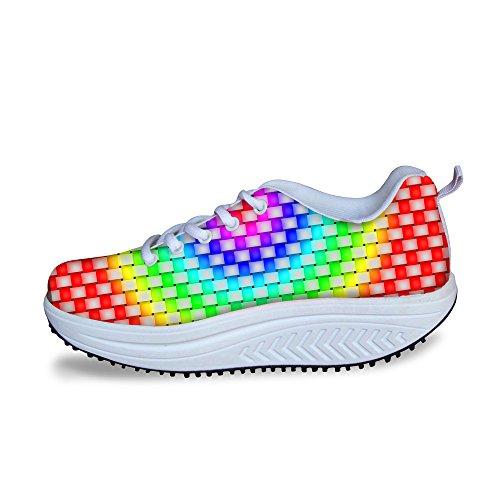 Ups 3 Mesh HUGSIDEA Womens Shape Sneakers Multicolor Comfort Multicolor Fashion wa4Pq4Xf