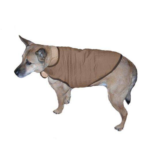 Advance Pet Products Nanotex Dog Coats, 20-Inch, Khaki