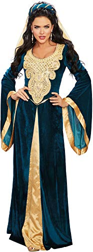 Dreamgirl Women's Plus Size Medieval Maiden, Costume,