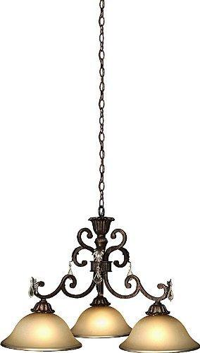 Artcraft Lighting AC1828 Florence 3-Lite Traditional Chandelier, Rich Bronze by Artcraft Lighting