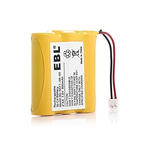 EBL Rechargeable Cordless Phone Battery for Vtech 80-5071-00-00 8050710000 Again & Again STB-912 STB912 Casio CP2775 TC2575 TC508 TC510 TC520 TC749 - 00 Cordless Battery Phone