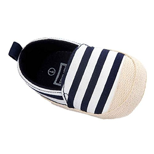 [Fheaven Baby Girl Stripe Canvas Sneaker Anti-slip Soft Sole Toddler Shoes for Autumn and Winter (US:3( Age:6~12 Month),] (Ladybug Soft Costumes)