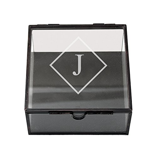 Cathy's Concepts Personalized Square Glass Shadow Box, Letter J
