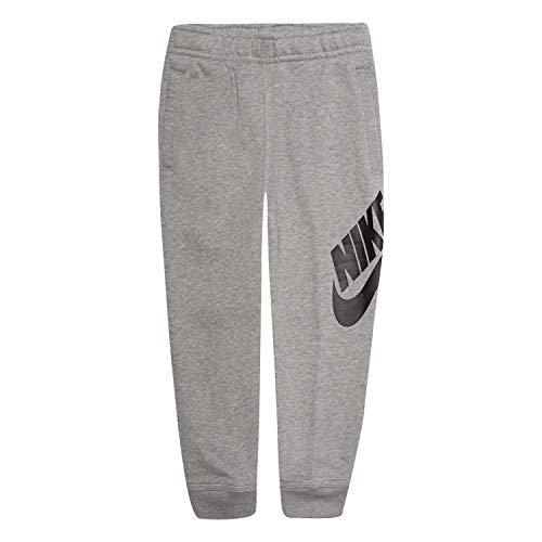 NIKE Children's Apparel Boys' Little' Fleece Jogger Pants, Gray Dark Grey Heather, 7