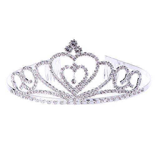 Dairyshop corona principessa Corona, diadema, Prom Queen Crown Quinceanera Pageant principessa strass nuziale corone diademi per le donne