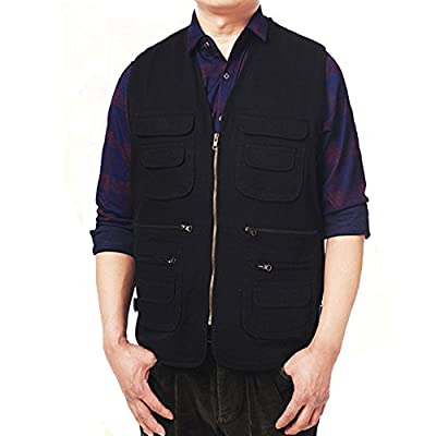 ZQXPP Men's Photo Journalist's Cycling Outdoor Multifunction Pockets Fishing Hunting Waistcoat Travel Photography Jackets Vest