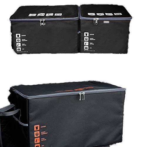 Black 673534cm Storage box Car Trunk Storage Box Washable Car Storage Box Canvas Oxford Cloth Folding Box Storage Box Car Finishing Supplies Gifts (color   bluee, Size   53  29  34cm)