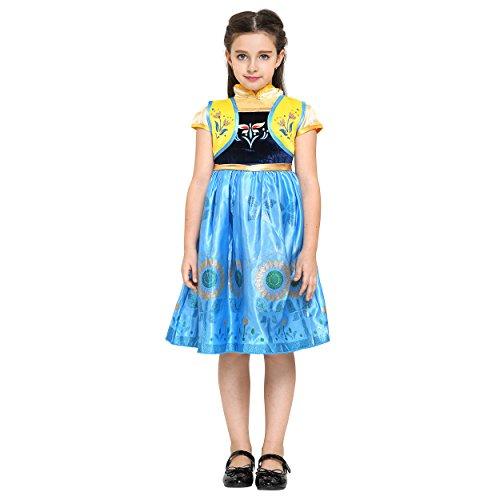 Girls Anna Frozen Princess Dress: Halloween Costume: Ages 4-5 (Disney Princess Belle Wedding Dress)