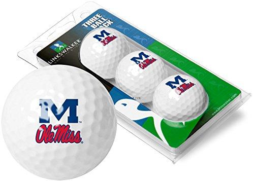 Mississippi Rebels Golf Ole Miss Golf 3 Golf Ball Sleeve