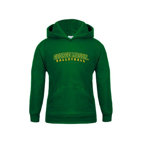George Mason Youth Dark Green Fleece Hoodie Volleyball