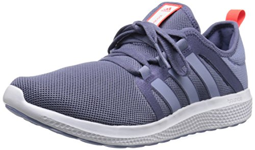 Adidas Performance fresca de rebote W zapatillas de running, negro / negro / color de rosa la mitad, Purple/Prism Blue/Solar Red