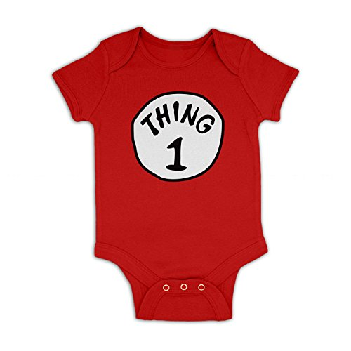 Thing 1 Costume Baby Grow - Red 3-6 (Thing 1 Baby Costume)