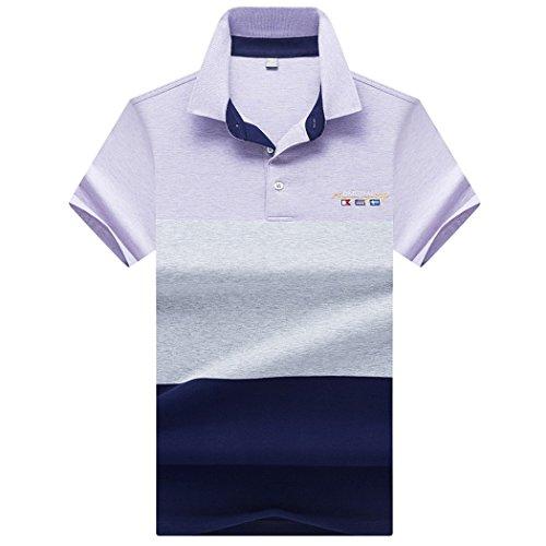 SemiAugust(セミオーガスト)ポロシャツ メンズ 半袖 吸汗速乾 鹿の子 ゴルフウェア カジュアル スポーツ Tシャツ ゴルフシャツ トップス 夏 ボタンダウン スリム アウトドア ストリートシャツ