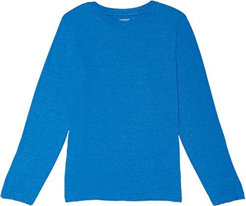 Diver Kids T-shirt (French Toast School Uniform Boys Long Sleeve Crewneck T-Shirt, Skydiver Heather, 2T)