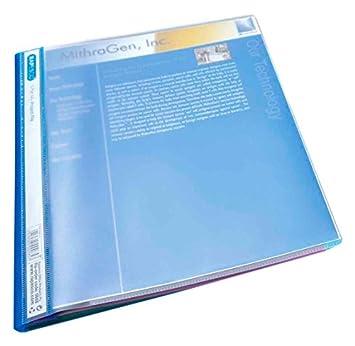 Rapesco 668 - Paquete de 5 archivadores de proyectos con 5 compartimentos y hasta 100 hojas de capacidad, transparente: Amazon.es: Oficina y papelería