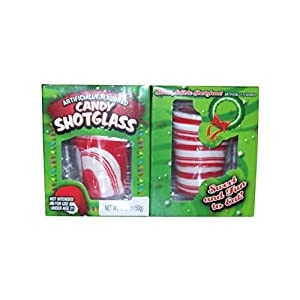 (Pack of 2) Peppermint Candy Shot Glasses, 1.76 Oz. Each
