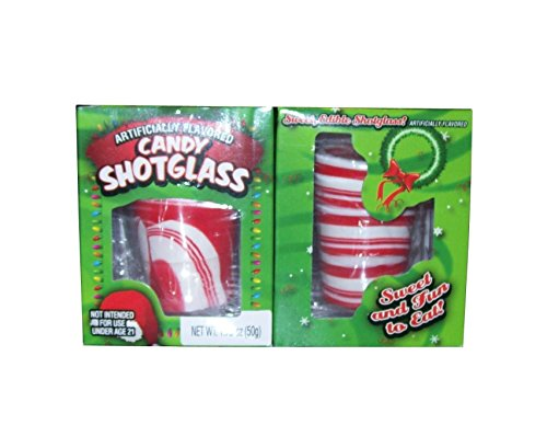 ((Pack of 2) Peppermint Candy Shot Glasses, 1.76 Oz.)
