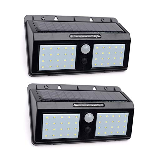 Solar Motion Sensor Lights Outdoor - JOYHO Super Bright 40 LED Wireless Waterproof Solar Wall Outside Lighting, Solar Security Light for Porch Patio Yard Deck Stairway Driveway (2 Pack)