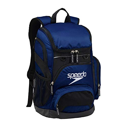 Speedo Printed Teamster 35L Backpack, Insignia Navy/Black, 1SZ
