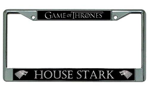 House Stark Chrome License Plate Frame (House Stark License Plate)