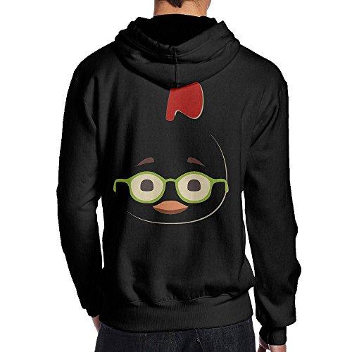 SAMMOI Chicken Little Glasses Men's Hoodies XXL Black