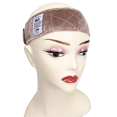 GEX New Style Beauty Flexible Velvet Wig Grip Scarf Head Hair Band Wig Band Adjustable Fastern (Tan) ()