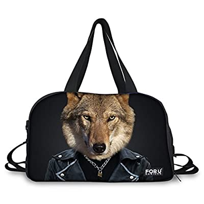 f528d345aa durable modeling FOR U DESIGNS Lightweight Tiger Wolf Panda Rhino Animal  Designs Duffel Bag Overnight Bag